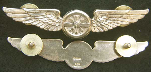 American Airlines Flight Engineer wing Sterling with gold plate