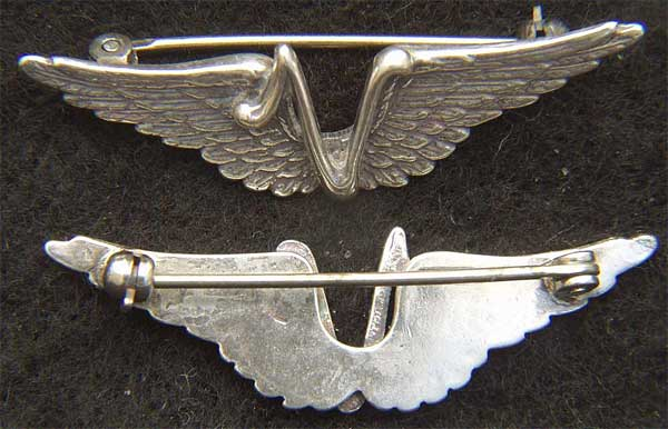 WWII V for Victory Wings Sterling Silver Victory wings, sweetheart wings, sweetheart jewelry, military jewelry