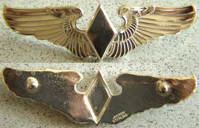 WWII WASP Josten Wing Sterling