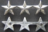 WWII 3 Star Collar Rank Sterling  Pin Back