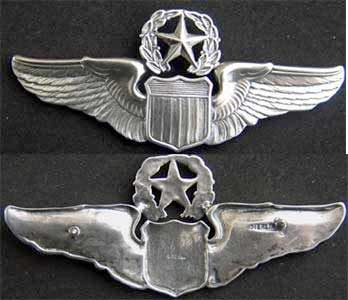 USAF Command Pilot Sterling Wings Command Pilot, Sterling Wings, USAF Command Pilot, USAF Wings, Sterling Wing, Pilot Wing