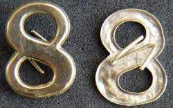 Civil War Insignia 8 Sterling Gold Plated