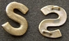 Spanish American War Sew on S Span Am, Letter S, Sterling
