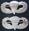 WWII Paratrooper wings BB&B design Sterling First paratrooper badge, paratrooper, paratrooper badge, sterling paratrooper, sterling badge, BB&B