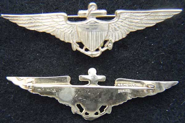 1920-1930's US Navy Pilot wing vaulted Navy Pilot, Sterling Navy Pilot 1930's Navy