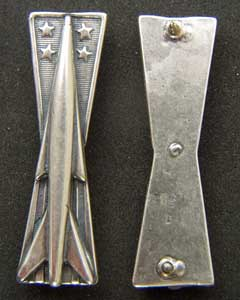 USAF Missile Badge Sterling Full Size Missile Badge, USAF Missile Badge, Sterling Missile Badge