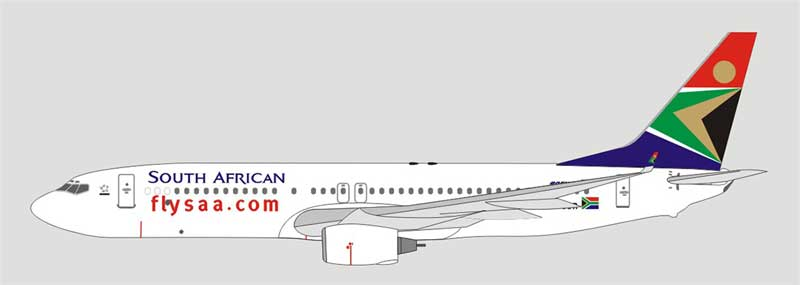 South African Airlines 737-800 ZS-SJR (1:400)