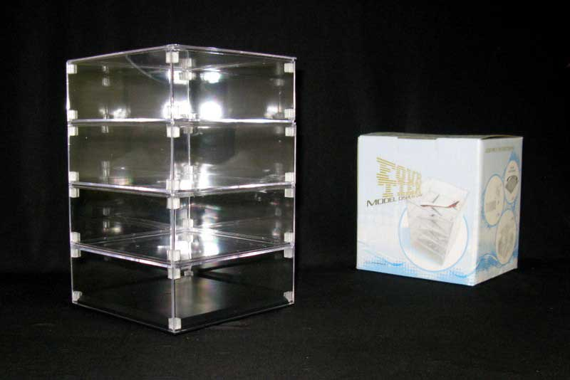 Stackable Display Case for 1:400, 1:500, 1:72 planes (4 Tiers)