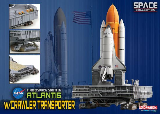 "Space Shuttle ""Atlantis"" w/Crawler Transporter (1:400)"
