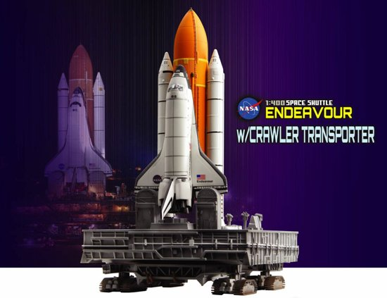 "Space Shuttle ""Endeavour"" w/Crawler Transporter (1:400)"