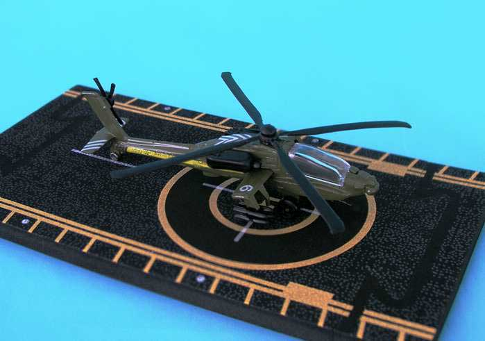 "Apache AH-64 (With military Markings) (Approx. 5"")"