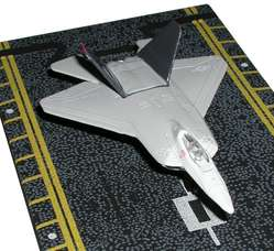 "F-22 Raptor White and Grey (Approx. 5"")"