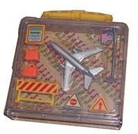 American Airlines playset with case