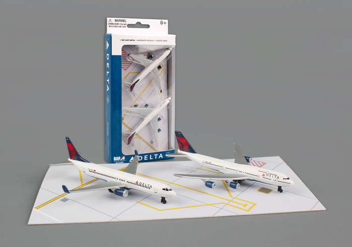 "Delta Airlines Play Set - 2 planes (3"" models)"