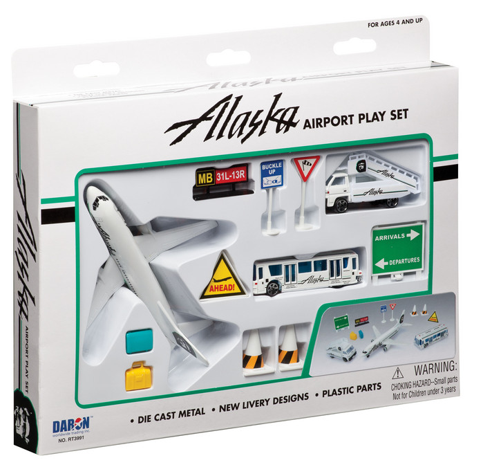 Alaska Airlines 12PC. Airport Play Set