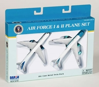 "Air Force One/Air Force 2 - 2 Plane Set (5"")"