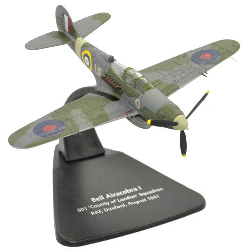 "Bell Airacobra, No. 601 ""County of London"" Squadron, Royal Auxiliary Air Force, RAF Duxford, 1940 - Preorder item, order now for future delivery"