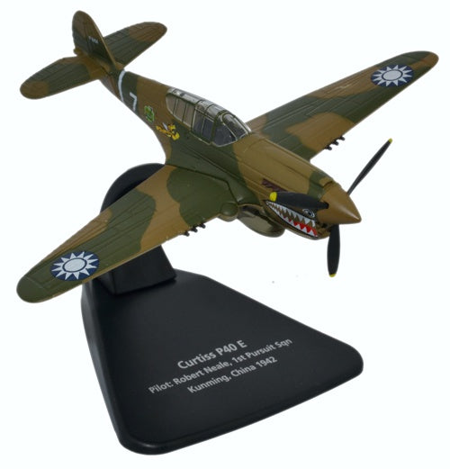 "Curtiss P-40 Warhawk, 13-Victory Ace Robert Neale, 1st Squadron Commander, AVG ""Flying Tigers"""