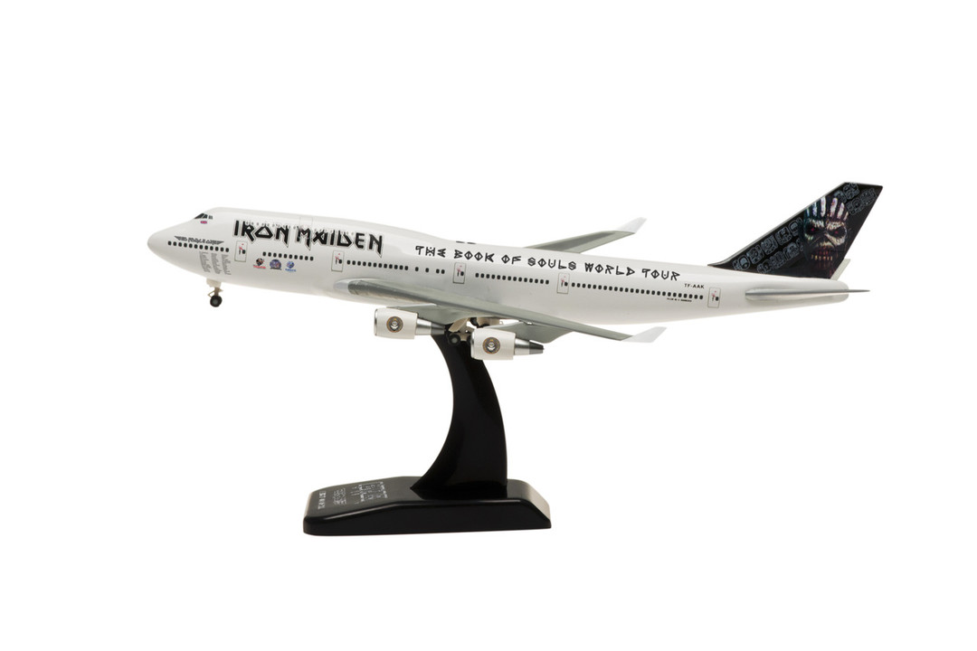 "Iron Maiden 747-400 TF-AAK (1:400) ""The Book of Souls World Tour"" 2016 Tour, Captain Bruce Dickinson - Preorder item, order now for future"