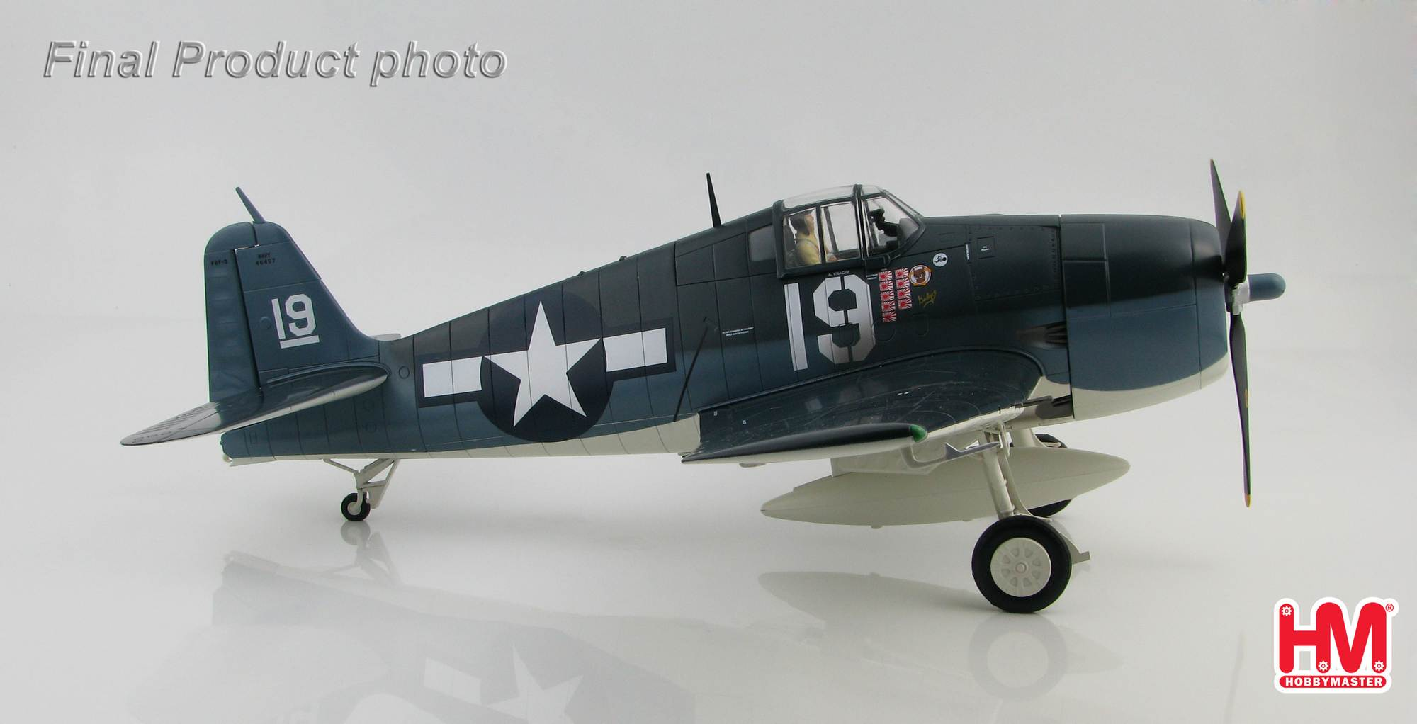 Grumman F6F-3 Hellcat, White 19 of VF-6, Alex Vraciu, USS Intrepid, February, 1944 (1:32)
