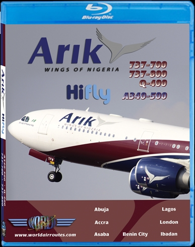 Arik Air A340-500 (BluRay DVD)