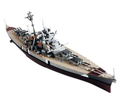 WWII German Bismarck Battleship Bismarck Norway 1941 (1:100)
