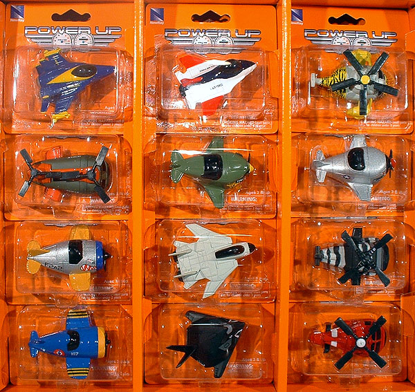 Power Up Mini Plane and Helicopter SET - This 12-Piece SET includes an assortment of 12 MINI Airplanes and Helicopters