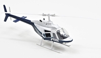Bell 206 Helicopter - Die Cast Construction (1:34)
