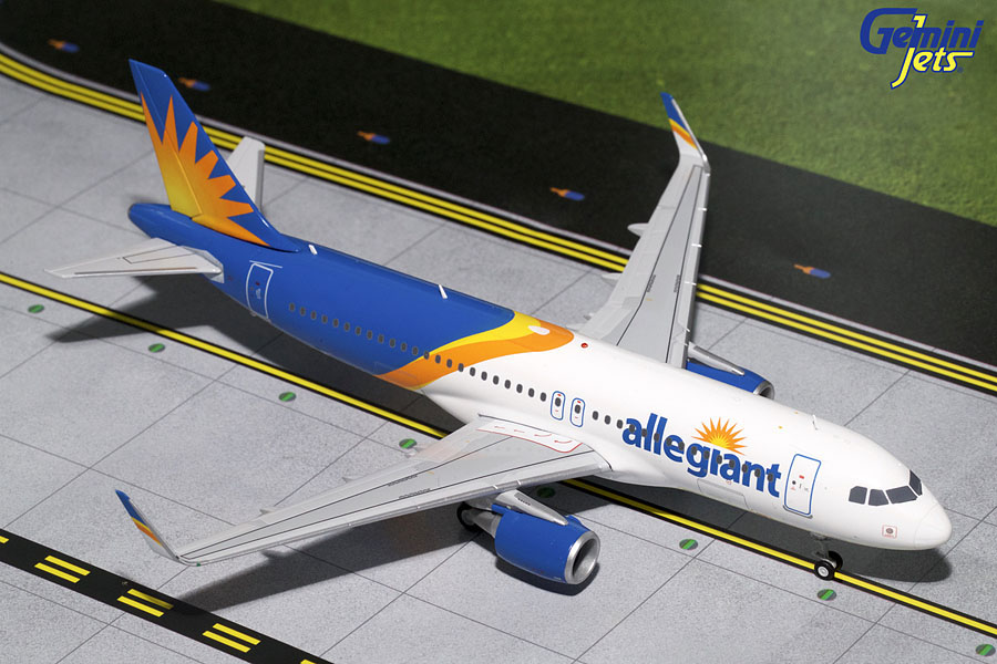 Allegiant A320-200(S) New Livery, Sharklets (1:200) - Preorder item, order now for future delivery