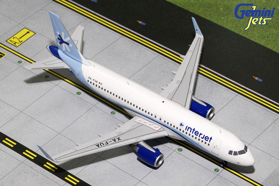 Interjet A320-200 Sharklets XA-FUA (1:200) - Preorder item, order now for future delivery