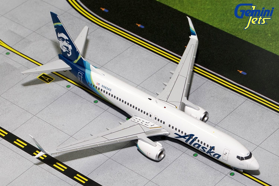 Alaska B737-800 New Livery, Scimitars N563AS (1:200)