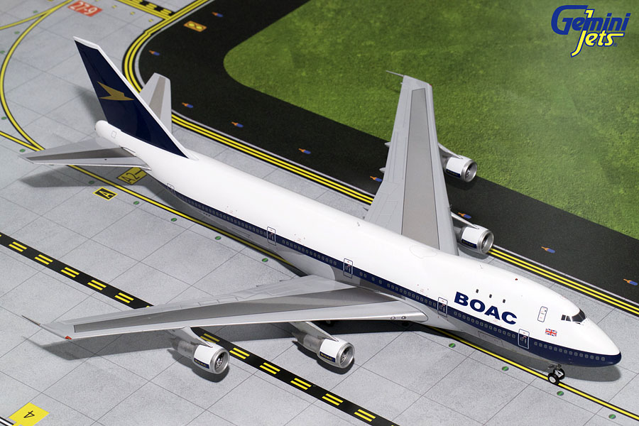 BOAC B747-100 Polished G-AWNF (1:200) - Preorder item, order now for future delivery