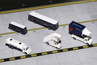 Delta Airlines Ground Service Equipment Trucks (1:200) - Preorder item, Order now for future delivery