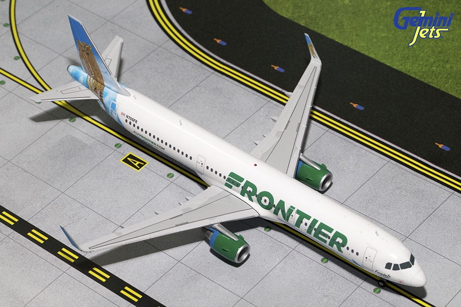 "Frontier Airlines A321-200 Sharklets ""Ferndale the Owl"" N705FR (1:200) - Preorder item, order now for future delivery"