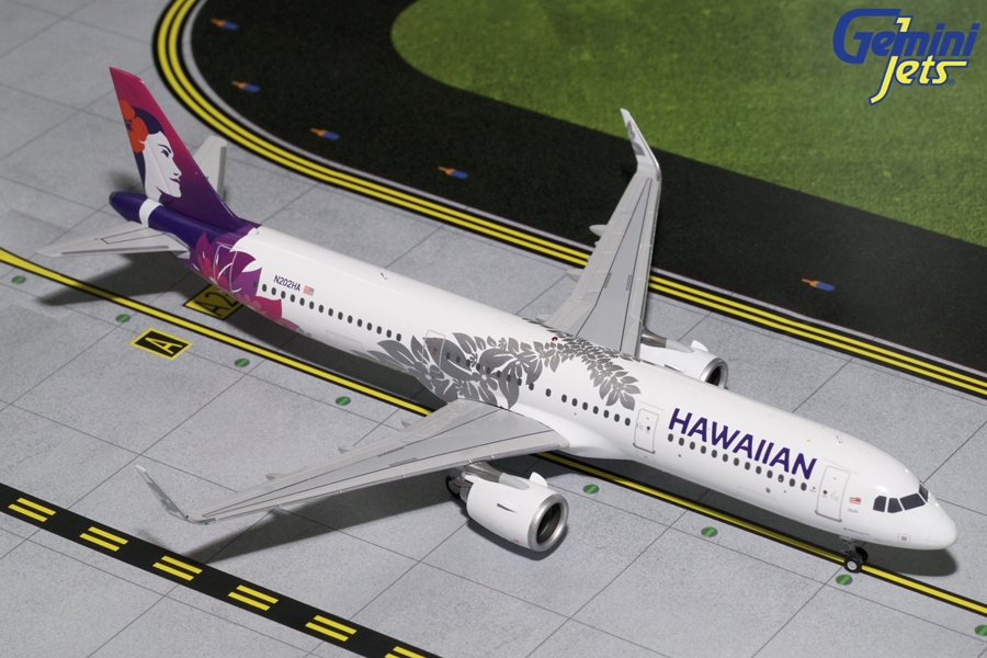 Hawaiian Airlines A321neo (2017 Livery) N202HA (1:200)