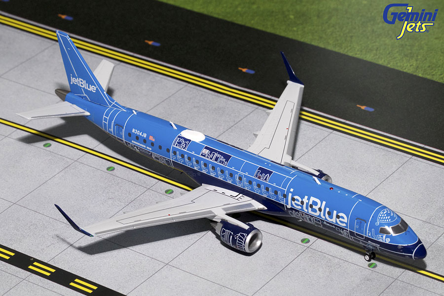 "JetBlue ERJ-190 ""Blue Print Livery"" N304JB (1:200) - Preorder item, order now for future delivery"