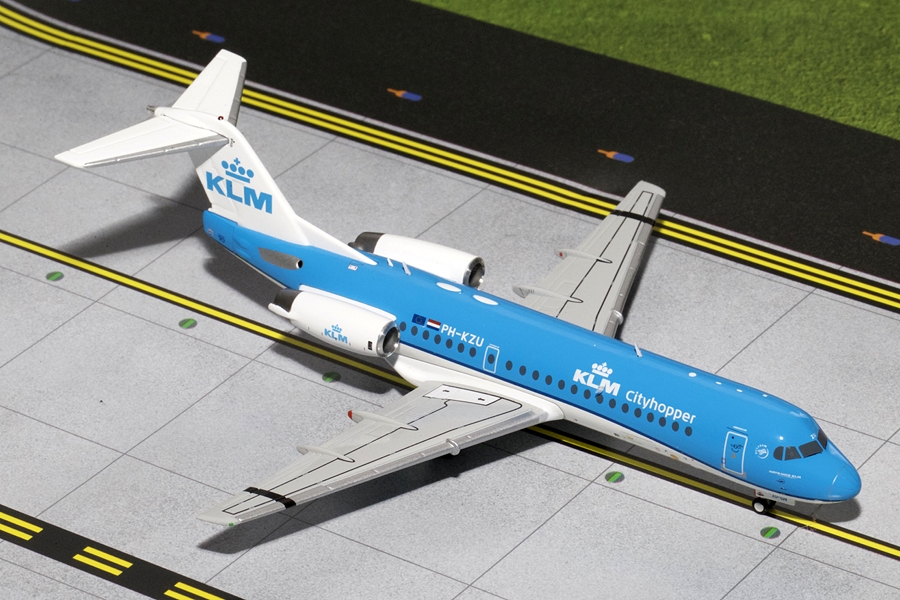KLM Fokker F-70 New Livery PH-KZU (1:200) - Preorder item, order now for future delivery
