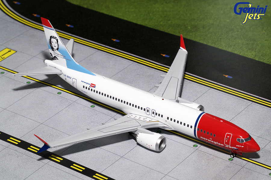 "Norwegian B737 MAX 8 ""Sonja Henie"" LN-MAX (1:200) New Mould - Preorder item, order now for future delivery"