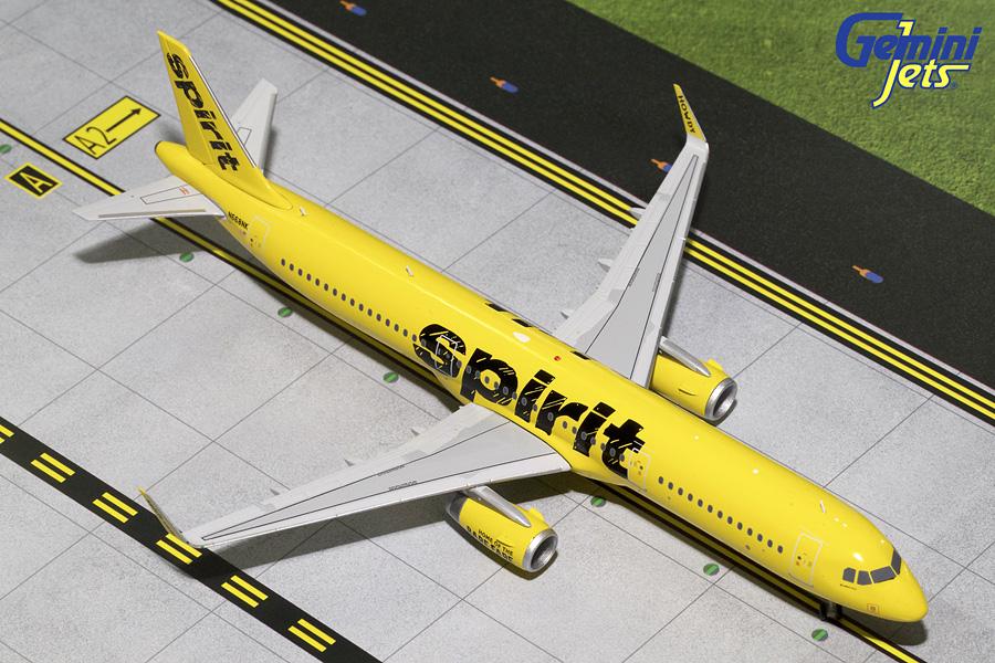 Spirit Airlines A321-200 Yellow Livery, Sharklets N668NK (1:200)
