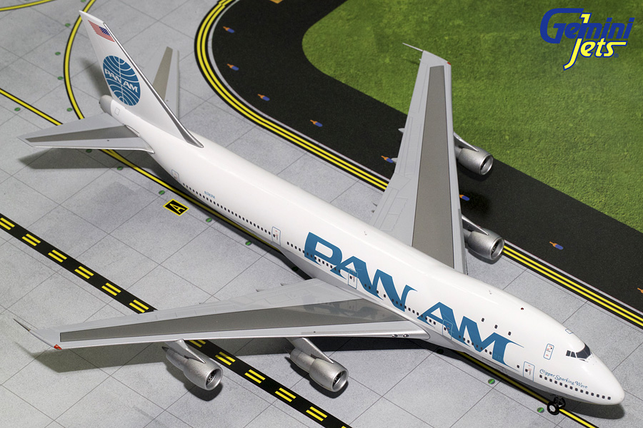 Pan Am B747-100 Billboard Livery, Polished N741PA (1:200) - Preorder item, order now for future delivery