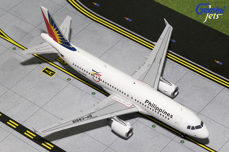 Philippines A320-200 75th Anniversary RP-C8619 (1:200) - Preorder item, order now for future delivery