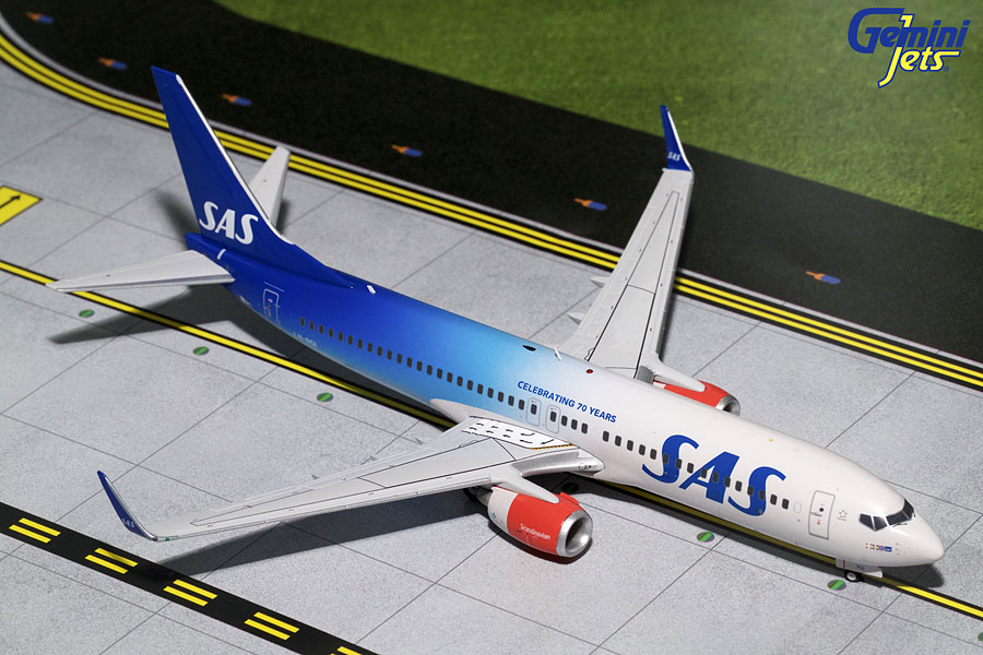 "SAS Scandanavian B737-800(W) ""70th Anniversary"" LN-RGI (1:200) - Preorder item, order now for future delivery"