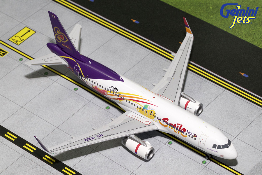 Thai Smile A320 Cartoon Livery, Sharklets HS-TXQ (1:200) - Preorder item, order now for future delivery