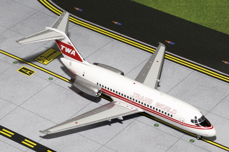 TWA DC-9-10 Red Stripe Livery N1058T (1:200) - Preorder item, order now for future delivery