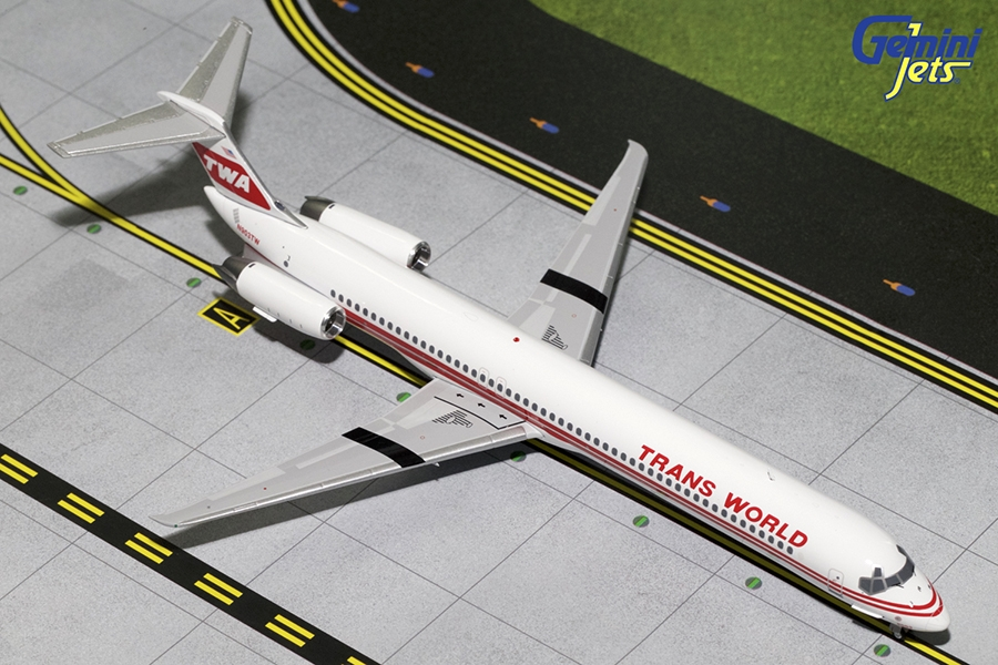 TWA MD-80 Red Stripe Livery N903TW (1:200) - Preorder item, order now for future delivery
