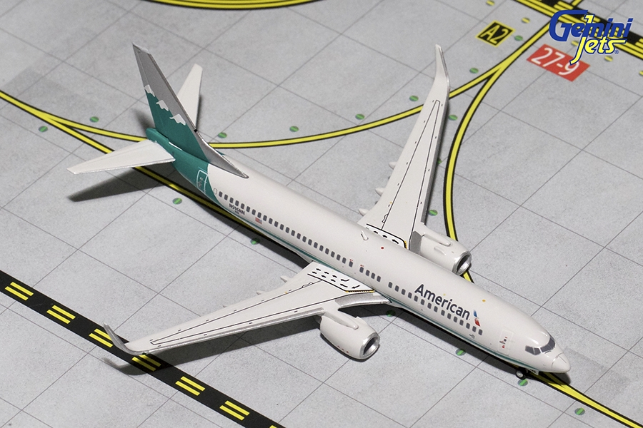 American/Reno Air B737-800 Winglets, Retro Livery N916NN (1:400) - Preorder item, order now for future delivery