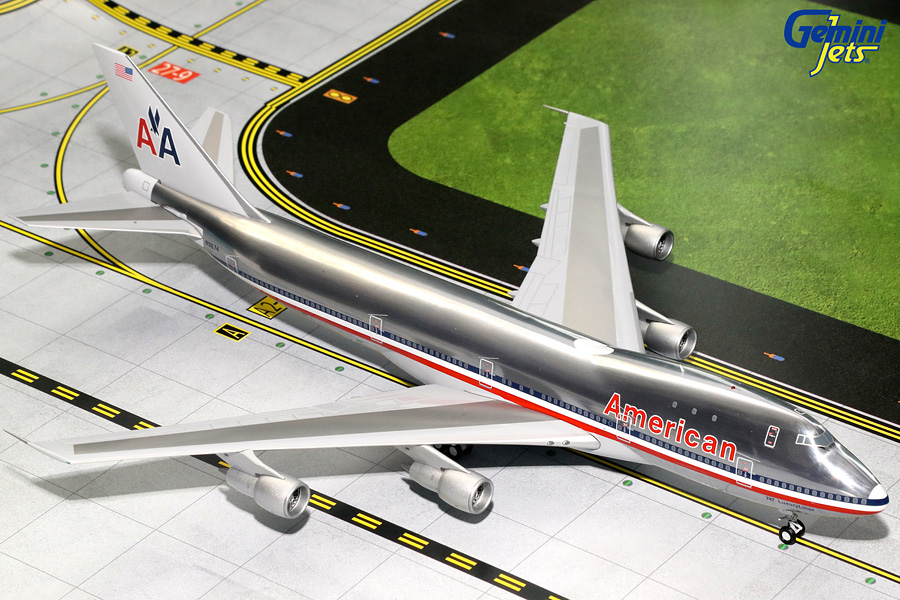 "American Airlines B747-100, Polished ""Luxury Liner"" N9674 (1:200)"