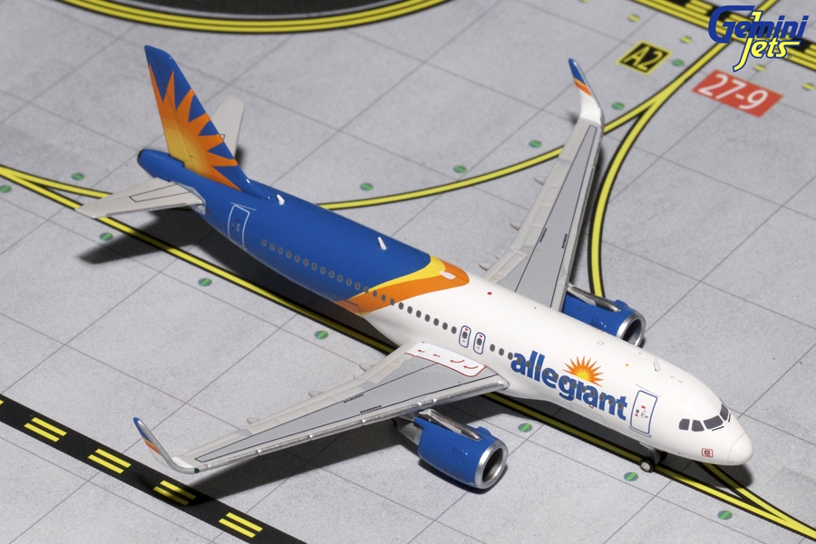 Allegiant A320-200 Sharklets, New Livery (1:400)
