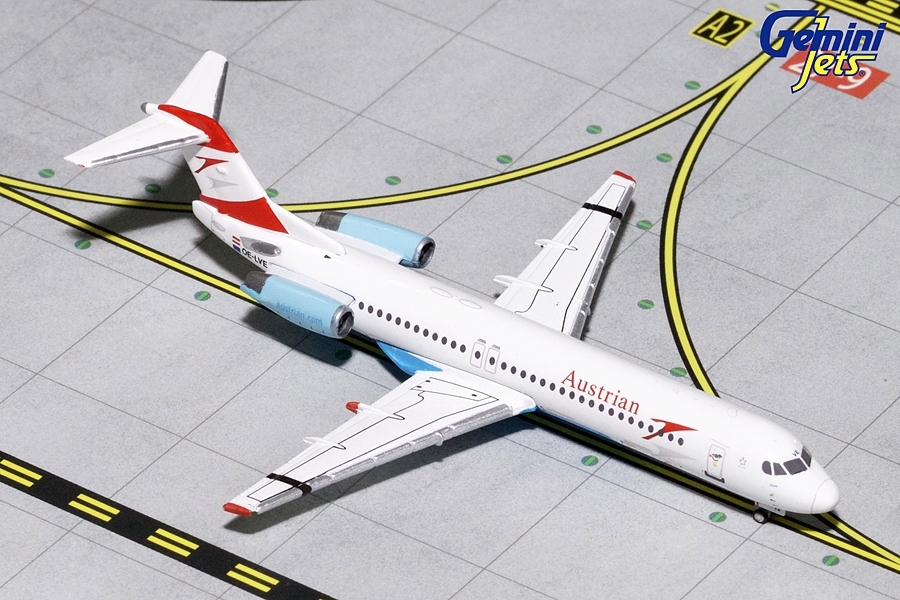 "Austrian Airlines F-100 ""Goodbye Fokker"" OE-LVE (1:400) - Preorder item, Order now for future delivery"