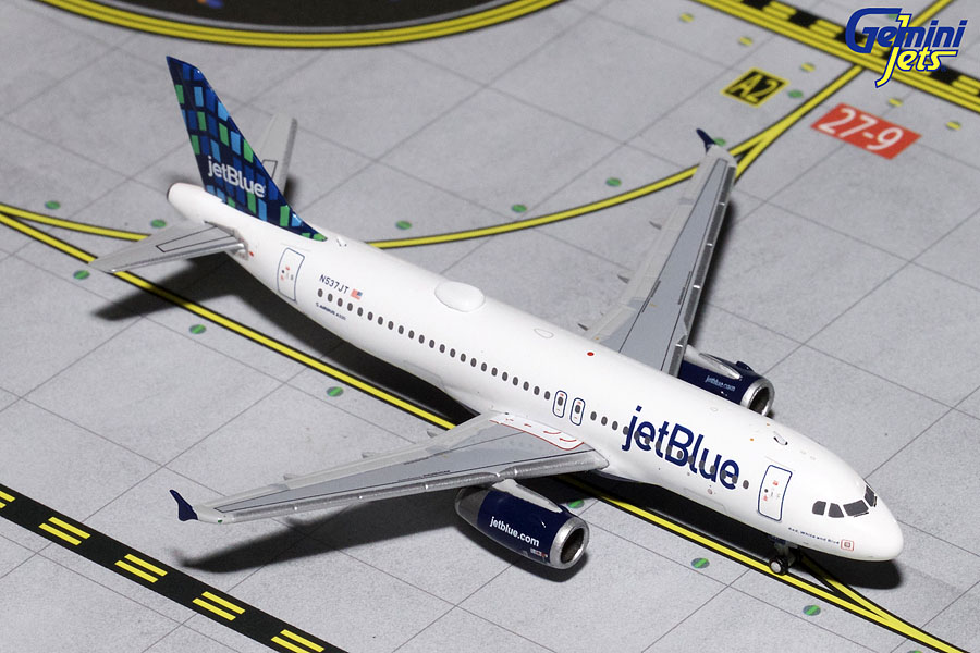 "JetBlue A320-200 ""Hi-Rise Livery"" N537JT (1:400) - Preorder item, order now for future delivery"